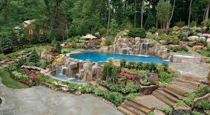 landscaping around pool all natural landscapes fence ideas as a