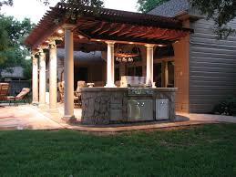 Pergola Outdoor Kitchen Exterior Modern Outdoor Kitchen Appliance With Dark Hardtop