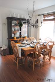Maple Dining Room Set by Rustic Maple Neutral Fall Dining Room Tour