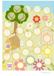 easter egg hunt board game worksheet free esl printable