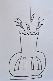 just be happy draw vases and make flower buttons