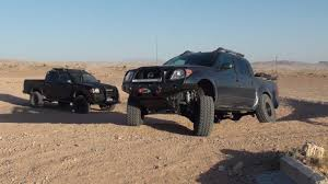 red nissan frontier lifted testing 35