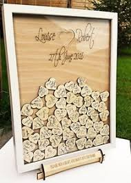 heart guest book personalised wedding heart guest book frame drop box white with