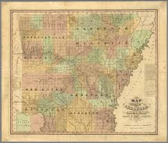 Fayetteville Ar Map A New Map Of The State Of Arkansas 1839 David Rumsey