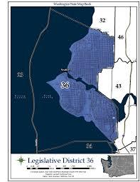 Map Of Greater Seattle Area by Washington U0027s 36th Legislative District Wikipedia