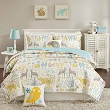 Coverlet Sets Bedding Ink Ivy Kids Woodland Aqua Coverlet Set Free Shipping Today