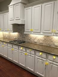 Grey Kitchen Backsplash Kitchen White Cabinets Black Countertops Gray Walls Kitchen