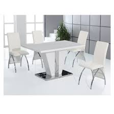 4 Seater Dining Table And Chairs 4 Seater Dining Table Set In High Gloss White