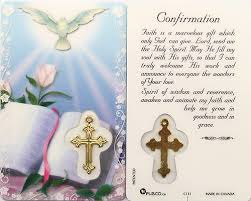 prayer cards confirmation prayer card