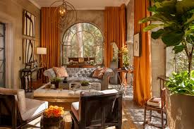 Burnt Orange Curtains Orange Curtains For With Brown Platform Bed Bedroom Modern And