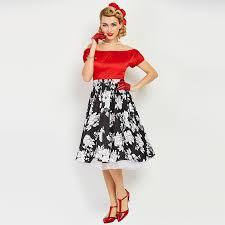 black u0026 red summer vintage a line dress uk vintage dress retro style