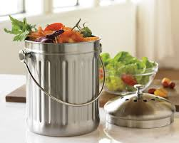 compost cuisine stainless steel compost pail 1 gal williams sonoma