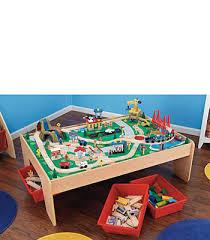 imaginarium metro line train table amazon kidkraft wooden waterfall mountain train table and set kids wish