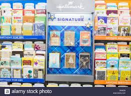 hallmark greeting cards on display at a walgreens flagship store
