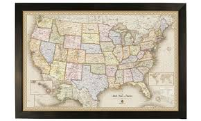 map travel usa magnetic pin travel maps groupon