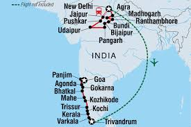 Kerala India Map by Cycle India North U0026 South India Tours Intrepid Travel Au