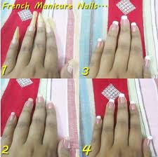 how to do proper french manicure at home photo tutorial