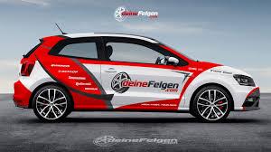 volkswagen race car volkwagen polo car wrap design