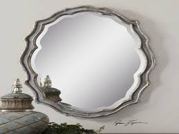 large beveled wall mirror silver oval wall mirror silver oval