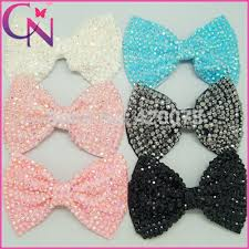 bows for hair 4 rhinestone hair bow for kids handmade bling bow with clip for