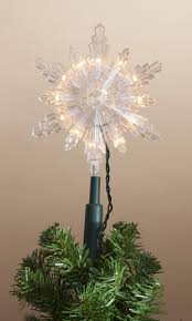 incandescent snowflake tree topper at hooked on hallmark ornaments