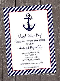 anchor baby shower nautical anchor baby shower invitations baby showers design