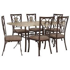 brookside rect stone table u0026 4 chairs