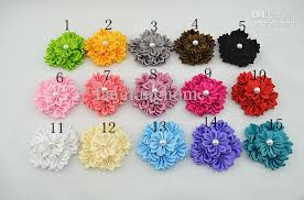 satin ribbon flowers satin ribbon layered flower diy cluster flowers without clip