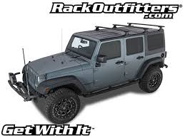 grey jeep wrangler 4 door rhino rack vortex rlt600 3 bar backbone black roof rack for jeep