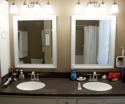 decorating bathroom mirrors ideas showy step how to frame a bathroom mirror diy to outstanding