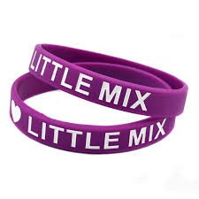 pink silicone bracelet images 2018 i love little mix silicone wristband ink filled logo perfect jpg