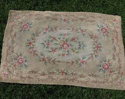 Country Hooked Rugs Antique Hooked Rug Etsy