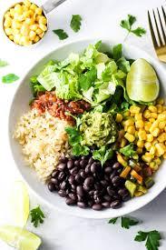 vegan burrito bowl emilie eats