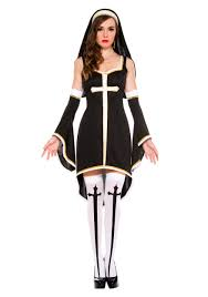 Nun Halloween Makeup women u0027s sinfully nun costume