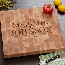 cutting board wedding gift personalized butcher block cutting board wedding gift