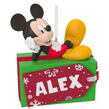 disney mickey mouse present personalized ornament