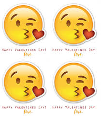 emoji valentines a and a glue gun