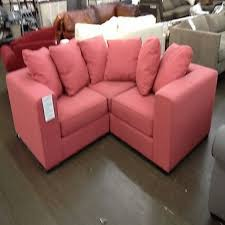 small sofa with chaise a rainbow orange sectional with storage by