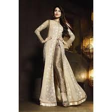 shop online designer malaika arora khan beige color georgette long