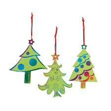 magic color scratch green christmas tree ornaments green