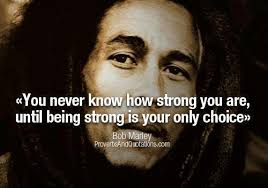 an inspirational picture quote from bob marley about inner