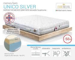 materasso antiallergico unico silver materasso memory sfoderabile traspirante