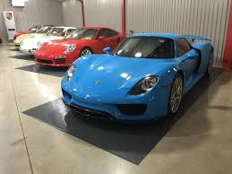 Porsche 918 Blue - this is a riviera blue finished porsche 918 spyder 2 images this