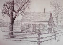 yessy u003e guy mischel u003e graphite drawings u003e maltese cross ranch cabin