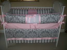 Turquoise Crib Bedding Set Grey And Pink Baby Bedding Set 209 00 Via Etsy I Really Really