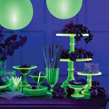 glow in the dark halloween party ideas glowing cups and candlesticks martha stewart