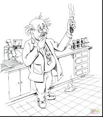 science coloring pages adults fantastic scientist printable