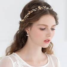 hair chains hot sale flowers golden headdress wedding hair accessories for