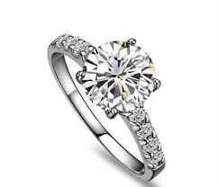 pretty diamond rings images Genuine 14k gold ring pretty design brilliant round 1 carat jpg