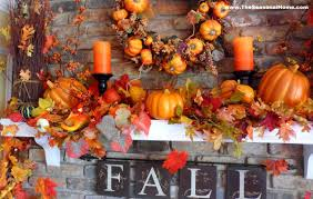 decorations fall thanksgiving fireplace mantel decoration